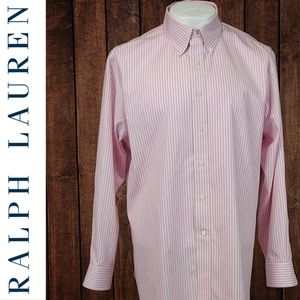 NWOT Pink floss on stripe polo